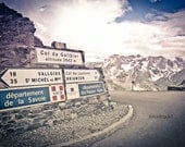 Col du Galibier, Southern France Photograph.  - Altitude 2652 Metres. Tour de France - French Alps - French Countryside - Provence. 8x12