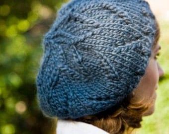 Women's Chunky Hat Blue Midnight - Adelyn