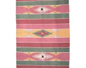 S A L E pink sunrise hand woven rug