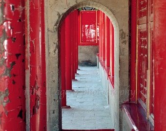 Ancient Red Door, Architectural Photography, Chinese Door Print, Asian Art Print, Red Door,Doorway Print,Large Wall Art Forbidden City 16x20