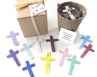 Seed Cross Baptism Christening First Holy Communion Party Favors