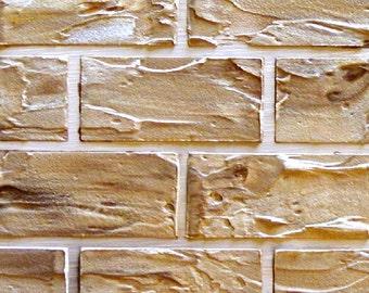 Raised Plaster Standard Brick Stencil Wall Stencil Paint