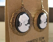 RESERVED for GryWinther - Black Cameo Earrings