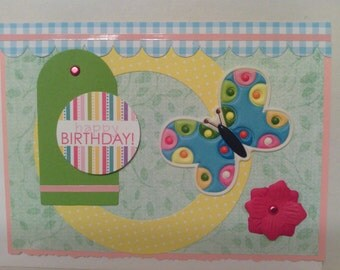 Bright Butterfly Birthday Card