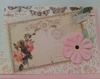 Antique Style Lacy Post Card