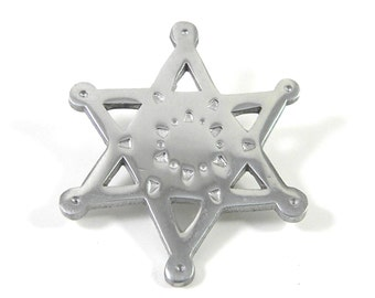 Large Silver tone Star Brooch Vintage Pin