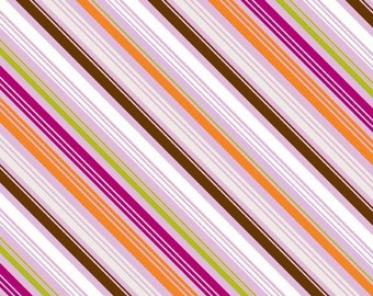 BLACK FRIDAY SALE - Little Matryoshka - Stripes in Purple -  1 Yard - Sku C3315 - by Carly Griffith for Riley Blake Designs