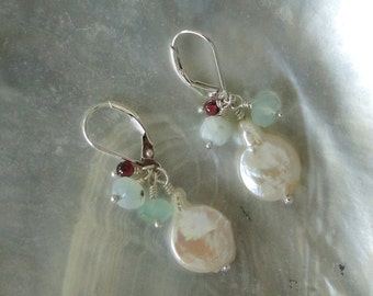 PEARL with GEMSTONES EARRINGS
