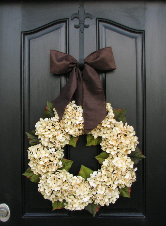 Hydrangea Wreathswedding Decor Wedding Wreaths Champagne