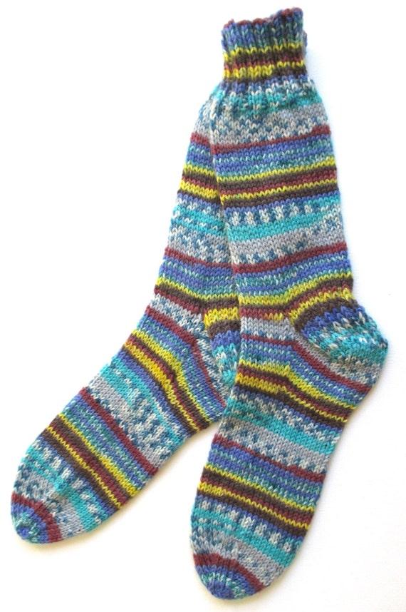 Knitting Pattern For Dk Socks : Hand Knit Socks for Women DK weight by BellaBlueKnits on Etsy
