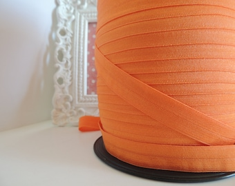 "5/8"" Inch Fold Over Elastic - 5 Yards of Orange FOE"