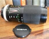 vintage camera lens  ... SUPER COSINA  80 to 200 mm 1:4.5 - 5.6 MACRO Lens ...