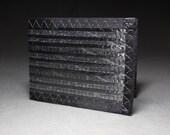 Carbon Fiber Sailcloth Wallet - Bifold ID - Black