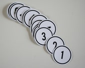 LARGE number spots 1 to 31 plus ampersand and hashtag, black on white