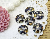 Photo Glass Cabochon Handmade 10pcs 12mm Image Glass Cabochon Flower P13--20% OFF