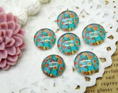 Handmade Glass Cabochon  10pcs 12mm Image Glass Cabochon Tree P7--20% OFF