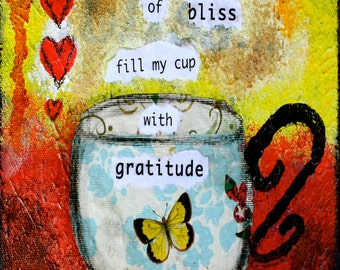 """Filled with Gratitude - 5""""x7"""" Blank Greeting Card with Envelope - Thank You Card, Gratitude Card, Wholesale Stationary, Wholesale Cards"""