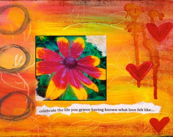 """Celebrate Life 5""""x7"""" Sympathy Card with Envelope, Condolence Card, Wholesale Greeting Cards, Stationery"""