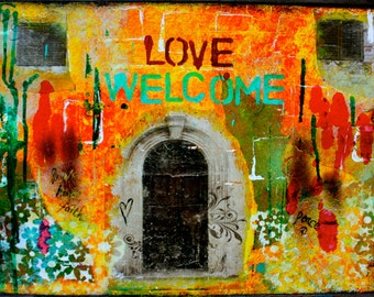 """Love Welcome 5""""x7"""" Blank Housewarming Greeting Card with Envelope, New Home Card, Wholesale Greeting Cards"""