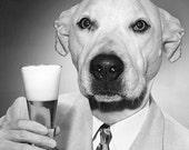 Custom Beer Drinker - 1 5x7 - PRINT - One Personalized Pet Portrait