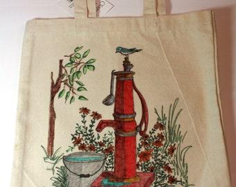 Original art Canvas Tote Bag - Go Green