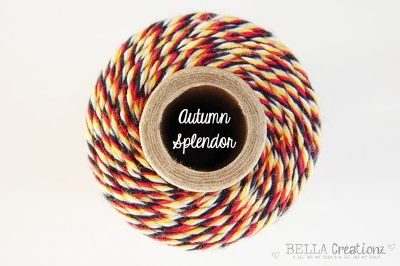 SALE - Autumn Splendor Bakers Twine by Timeless Twine - 1 Spool (160 Yards)