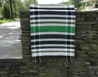 Rag Rug in Shades of Green