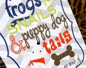 DIY Frogs, Snails, and Puppy Dog Tails All Boy Birthday Invitation Theme