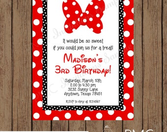 Custom Printed Birthday Girl Invitations, Any Age - 1.00 each with envelope