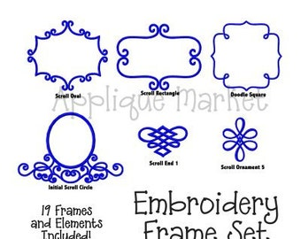 Machine Embroidery Design Embroidery Frame Set INSTANT DOWNLOAD