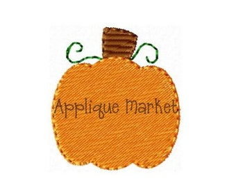 Machine Embroidery Design Applique Pumpkin Mini 2 INSTANT DOWNLOAD