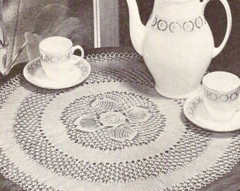 460 - Knitted Lace Doily 1965