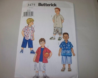 New Butterick, Boys' Clothing  Pattern,  3475 (6-7-8) (Free US Shipping)