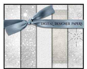 Digital Papers - SNOW BABIES - 12x12 Expertly Designed Photography and Scrapbook Backdrops.