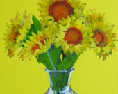 "Sunflower Painting . ""Sunflowers"" 24x18 in."