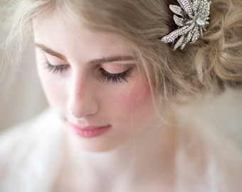 Bridal Crystal Hair Comb, Brooch Style Hair Comb, Bridal Hair Accessory, Wedding Hair Accessory
