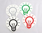 Light Bulb Roller Derby Helmet Vinyl Sticker / Vinyl Decal