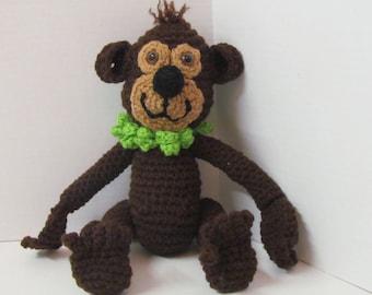 Amigurumi Monkey/ Crochet Monkey/ Stuffed Animal/Handmade Toy/ Monkey Baby Shower/ Monkey Birthday/Girl Monkey/Monkey/Gift for Children