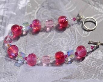 fatdog Bracelet - B1108   Hot Pink Gleam
