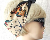 Tattoo Flash Hair Tie Print Rockabilly by Dolly Cool Traditional Old School