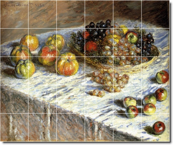 Kitchen Tiles Fruits Vegetables: S-M-L-XL Custom Ceramic Fruit Vegetables Painting Tile Mural