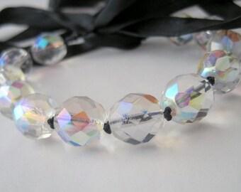 Czech Crystal Ribbon Bracelet