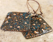 Hammered Copper Patina Earrings