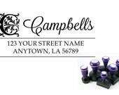 Self inking custom Personalized Return address Name rubber stamp R154
