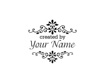 Personalized Custom Made Name Handle mounted or Unmounted Rubber Stamps C10 scrapbook