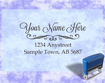 Personalized Self Inking Return Address Stamp - self inking address stamp - Custom Rubber Stamp R95