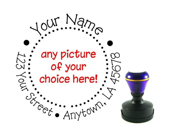 Personalized Self Inking Return Address Stamp - self inking address stamp - Custom Rubber Stamp R61E