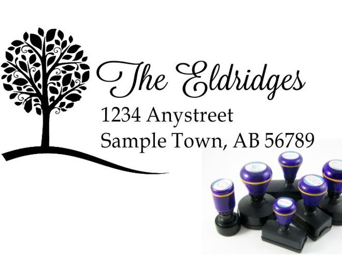 Personalized Self Inking Return Address Stamp - self inking address stamp - Custom Rubber Stamp R100