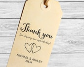 Custom wedding favor stamp--Thank you!--142TS