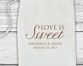 Custom wedding favor stamp--Love is sweet!--145TS